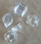 Quartz Platonic Solids (One set of 5)