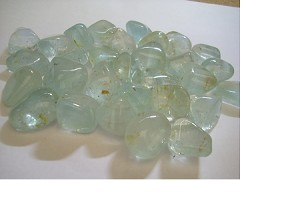 Blue Topaz non-irradiated; tumbled